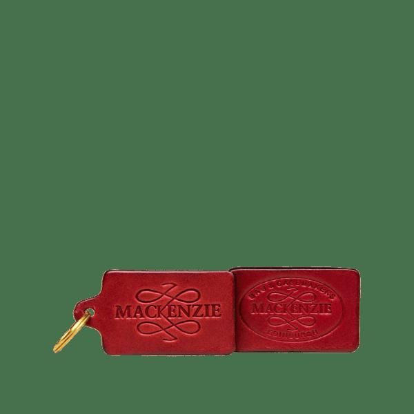 MacKenzie Leather luggage tag