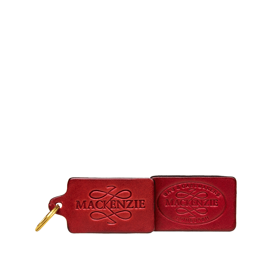 MacKenzie Leather luggage tag