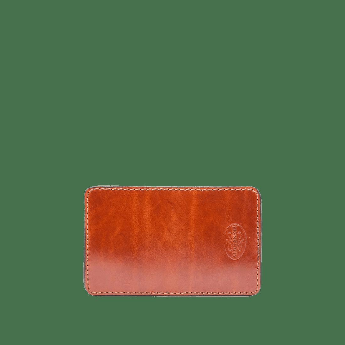 Card holder shiny tan