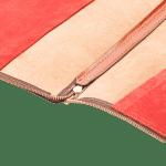 The Laptop zipped case shiny tan