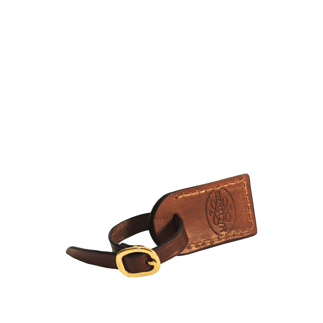 The luggage tag antique brown