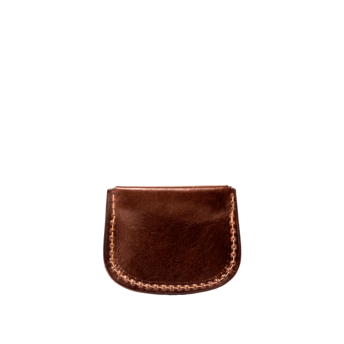 Coin purse shiny brown