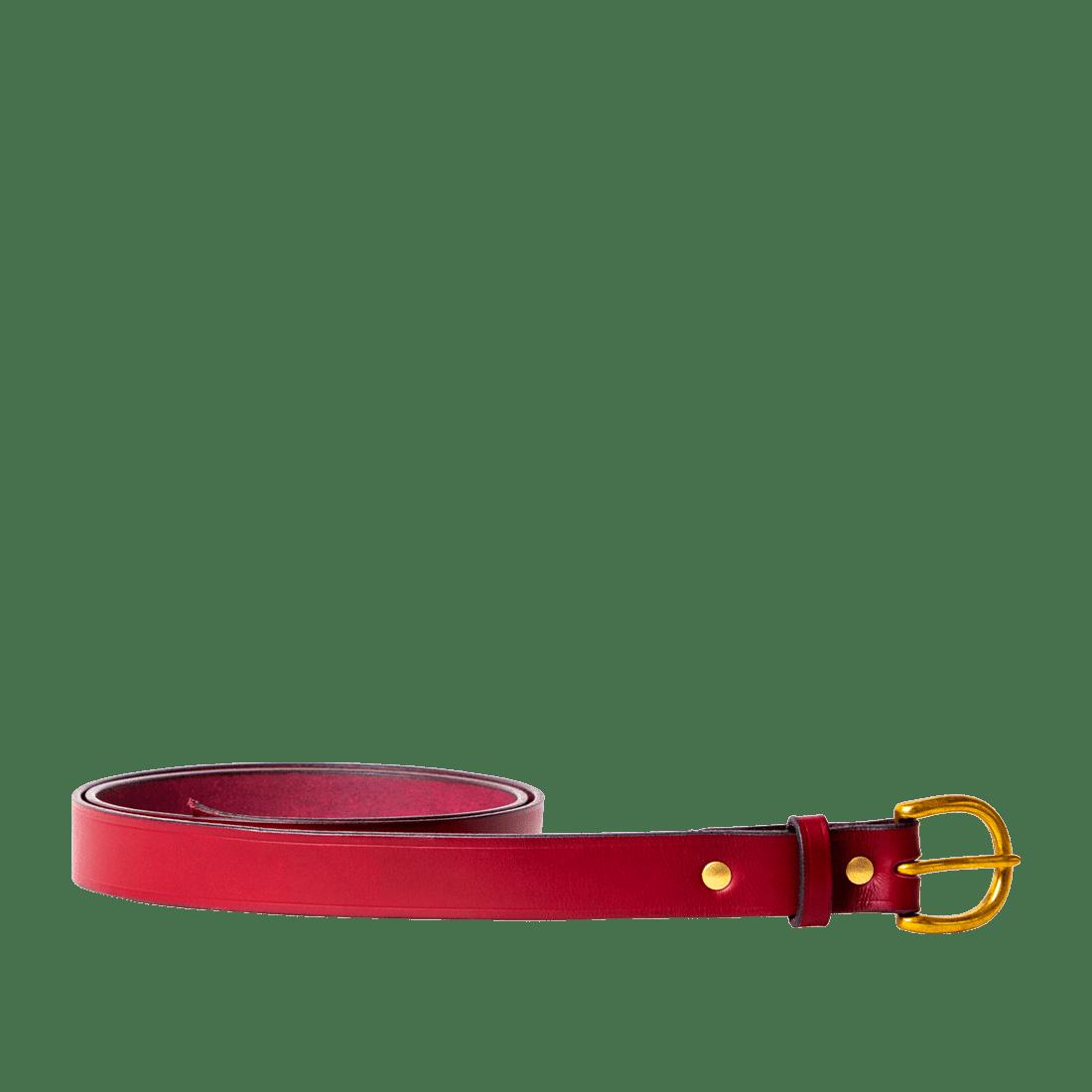 Italian Saddle Hide Burgundy