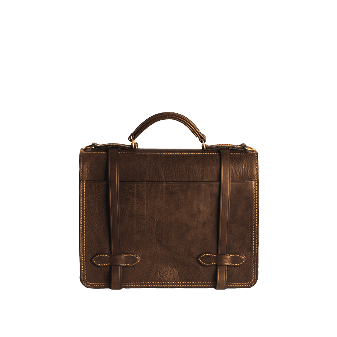 The Officers briefcase antique brown