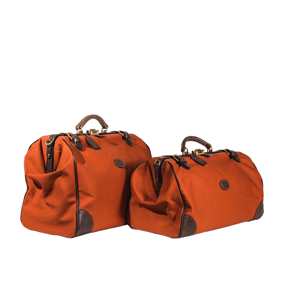 The Gladstone leather & canvas weekend & overnight russet