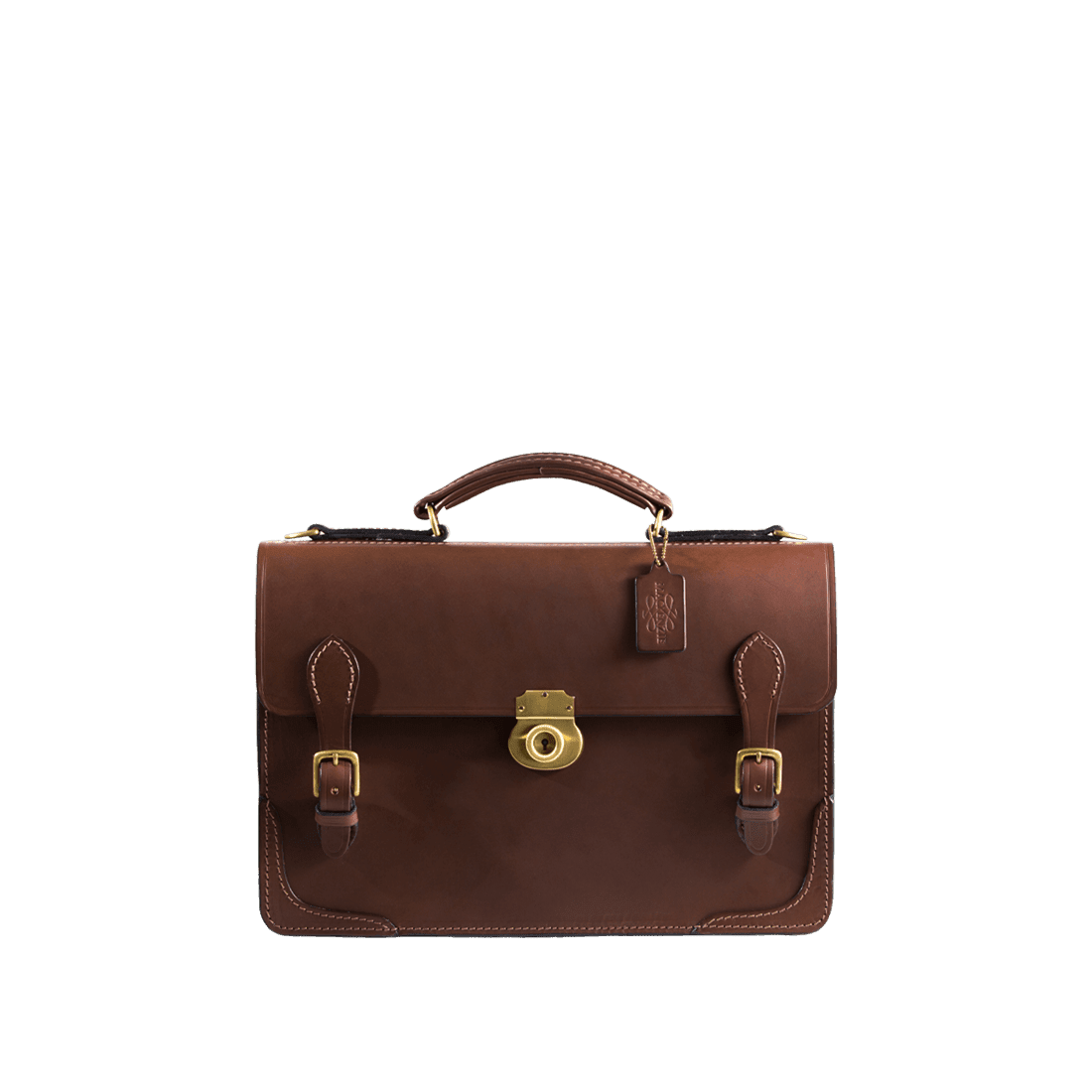 The Treasury briefcase chestnut