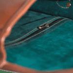The satchel shiny tan
