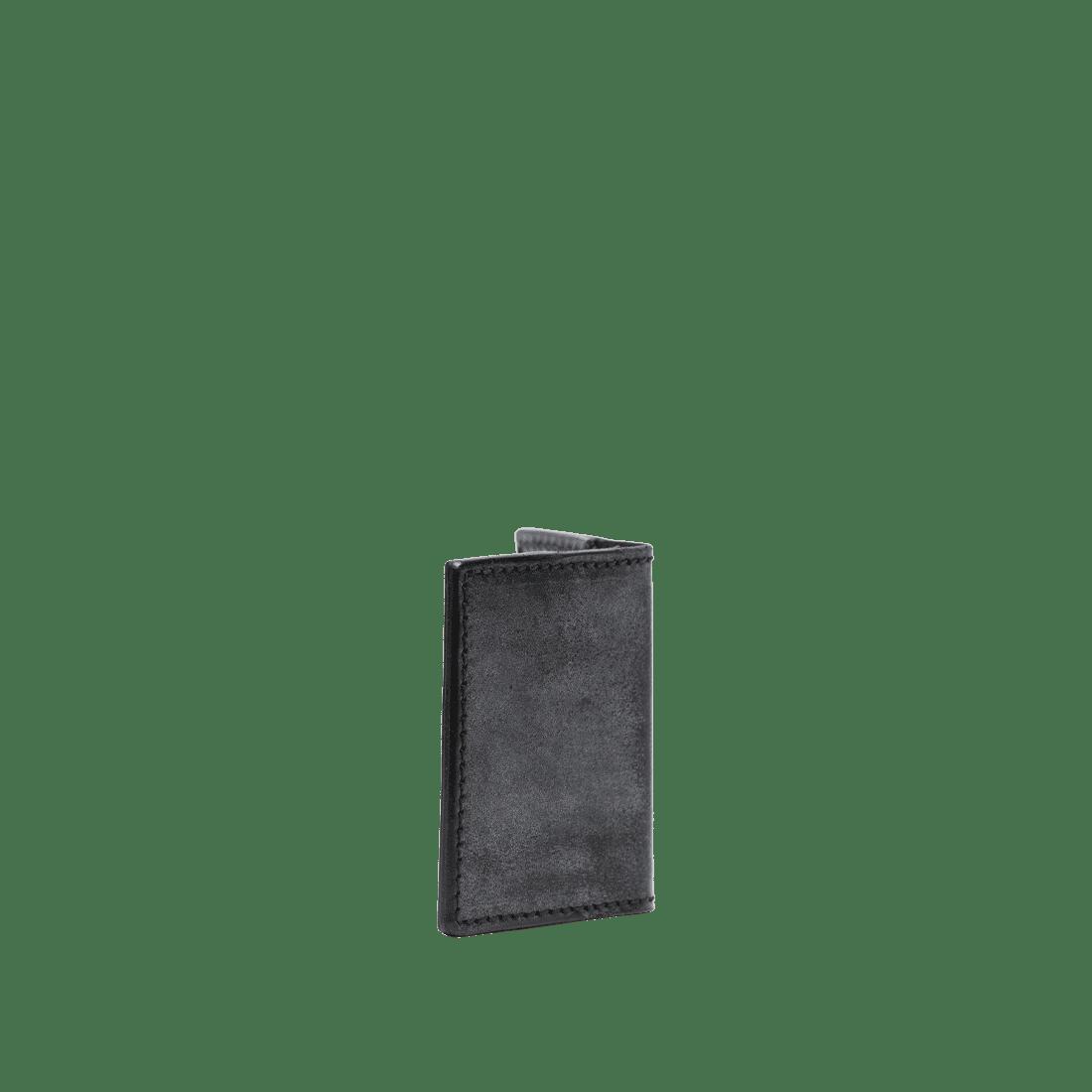 The Double Oak Card Holder Black