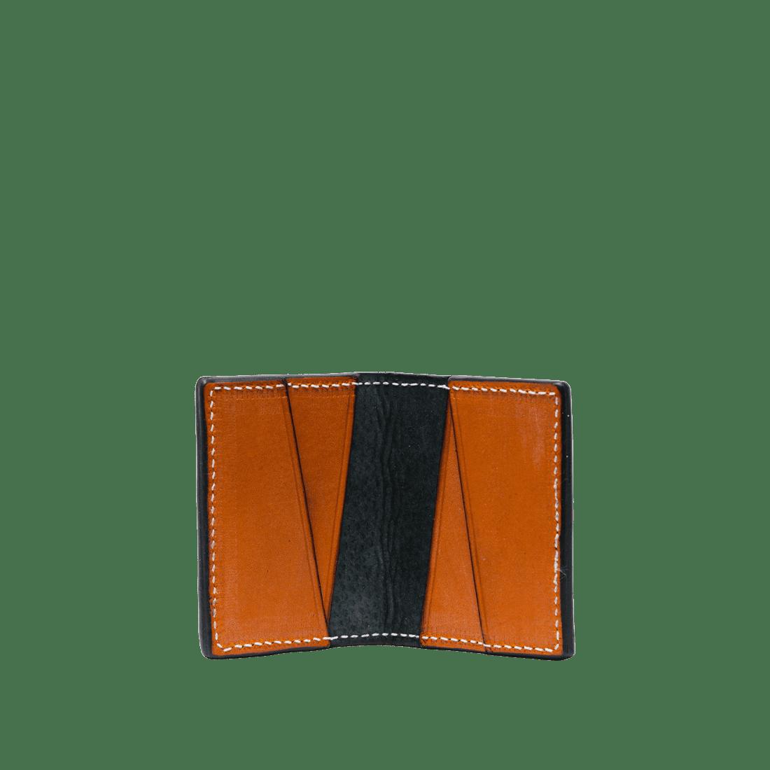 The Double Oak Card Holder London Tan